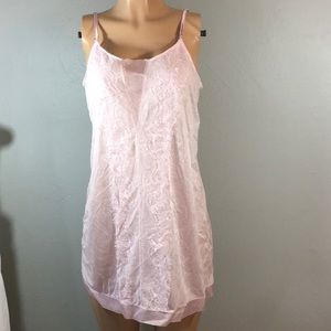 Pink lace chemise